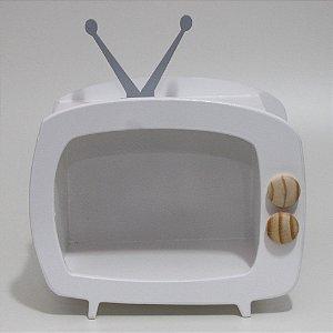 TV em Mdf - Branca com antena cinza