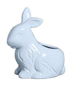 Vaso Coelho Sentado - Azul algodão doce