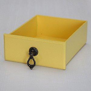 Gavetinha em MDF - Amarelo Claro