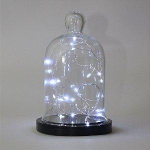 Redoma com Luz de Fada-  LED à pilha