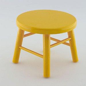 Banquinho de MDF G - Amarelo gema