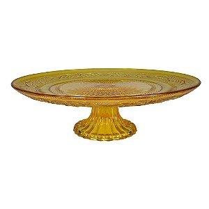 Boleira de vidro - amarela
