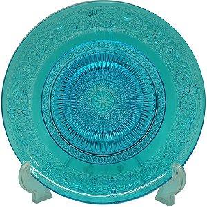 Prato de vidro - azul