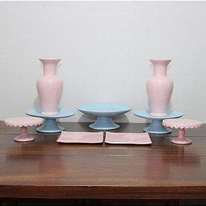 Kit azul e rosa - 9 peças