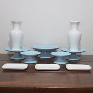 Kit branco e azul - 10 peças