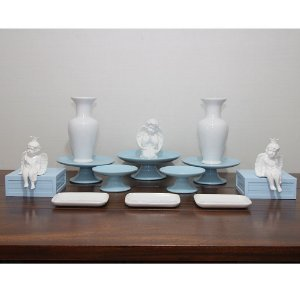 Kit branco e azul - 15 peças