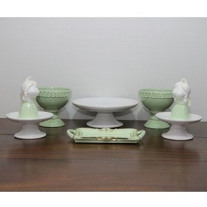 Kit branco e verde - anjinhas