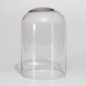 Redoma de vidro larga lisa