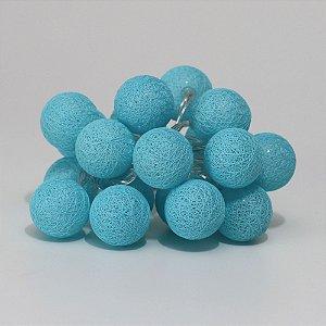 Cordão de Luz Mini Bolinhas - Azul (A pilha)
