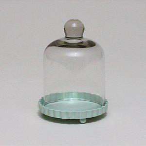 Porta Cupcake com Redoma - Verde Água