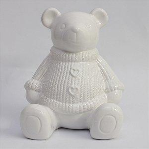 Urso Tricô Branco