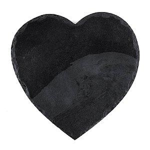 Prato Coração em Ardósia - Acabamento Rústico (30x30cm)