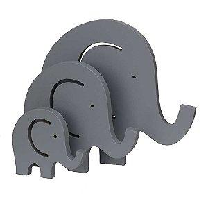 Trio de Elefantes - Cinza