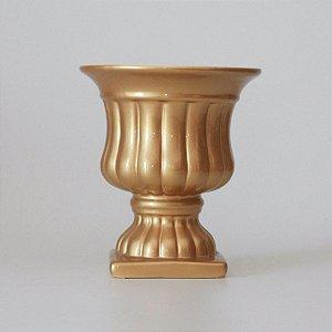 Vaso Romano Dourado Médio