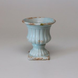 Vaso Romano Azul Rústico Pequeno