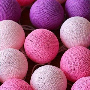 Cordão de Luz Cotton - Tons de Rosa (220V)