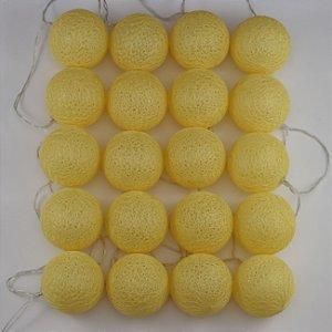 Cordão de Luz Linha - Amarelo (A pilha)