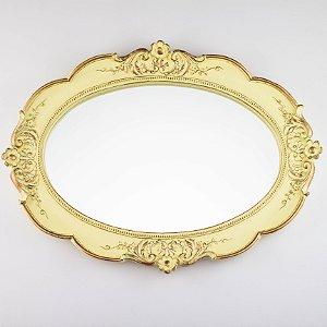 Bandeja Oval - Amarelo e Dourado