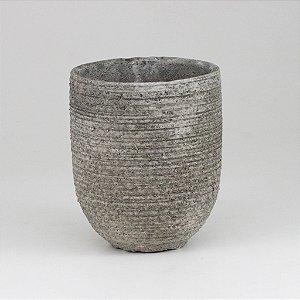 Vaso Cimento Riscado - Pequeno