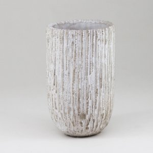 Vaso Cimento Bege - Grande