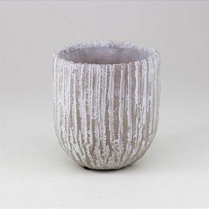 Vaso Cimento Bege - Pequeno