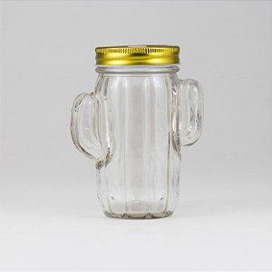 Mason Jar Cacto de Vidro
