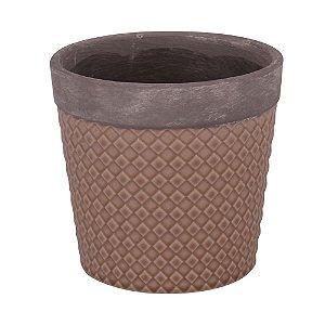 Vaso Textura Losango - Cappuccino