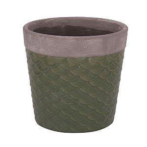 Vaso Textura Escama - Verde