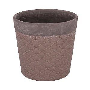 Vaso Textura Escama - Cappuccino