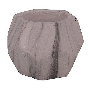 Vaso Geométrico em Cimento - Largo Pequeno