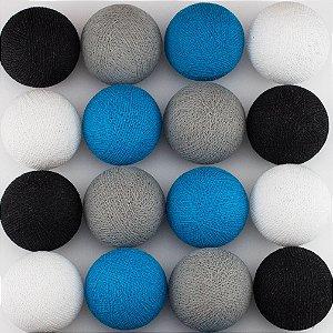 Cordão de Luz LED - Cinza, Azul Céu, Preto e Branco (220V)