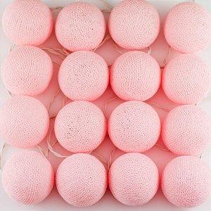 Cordão de Luz Cotton - Rosa Bebê (110V)