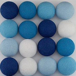 Cordão de Luz LED - Tons de Azul e Branco (A pilha)
