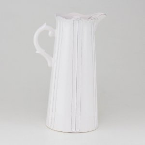 Jarra de Cerâmica Branca - Grande