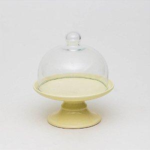 Boleira Candy Amarela com Redoma - P