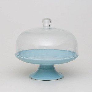 Boleira Candy Azul com Redoma - G