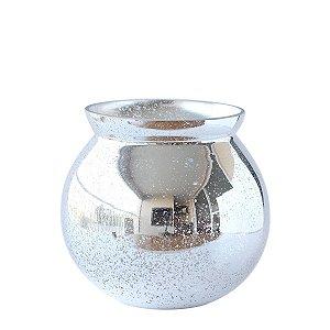 Vaso de Vidro Pequeno - Prata