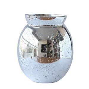 Vaso de Vidro Grande - Prata