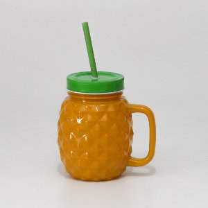 Mason Jar Abacaxi de Vidro