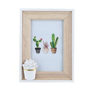 Porta-retrato Cacto Flower - Pequeno