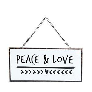 "Placa de Vidro ""Peace & love"""