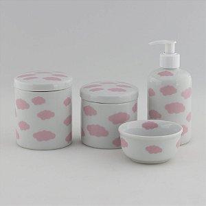 Kit Higiene Nuvem Rosa