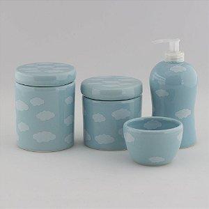 Kit Higiene Azul com Nuvem