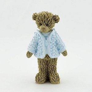 Ursinho de Resina - Azul em pé