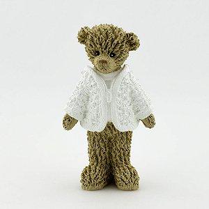 Ursinho de Resina - Branco em pé