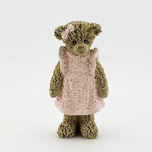 Ursinha de Resina - Rosa em pé