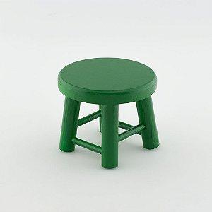Banquinho de MDF P - Verde Escuro