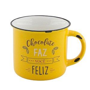 Caneca chocolate faz você feliz