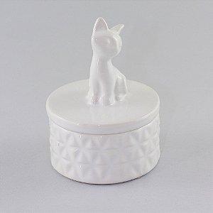 Potinho gatinho branco