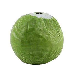 Côco verde de cerâmica